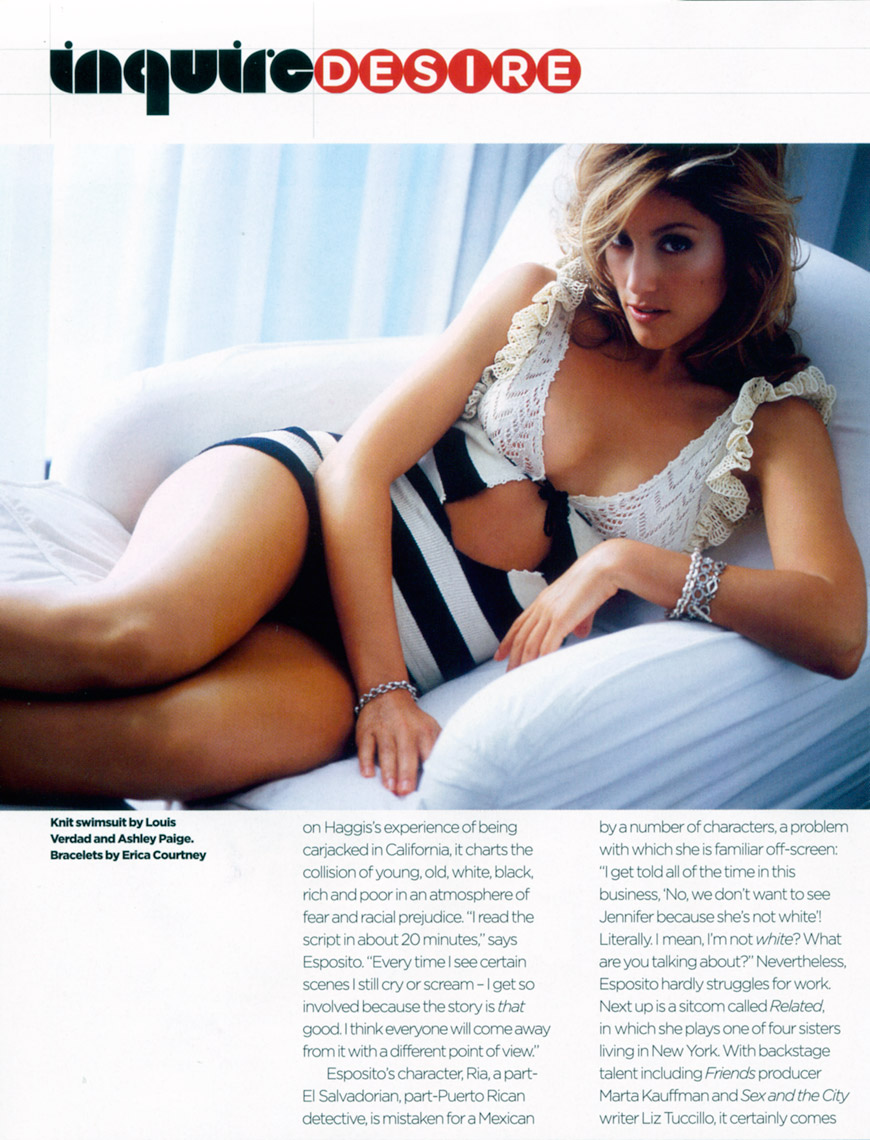 Jennifer Esposito for British Esquire