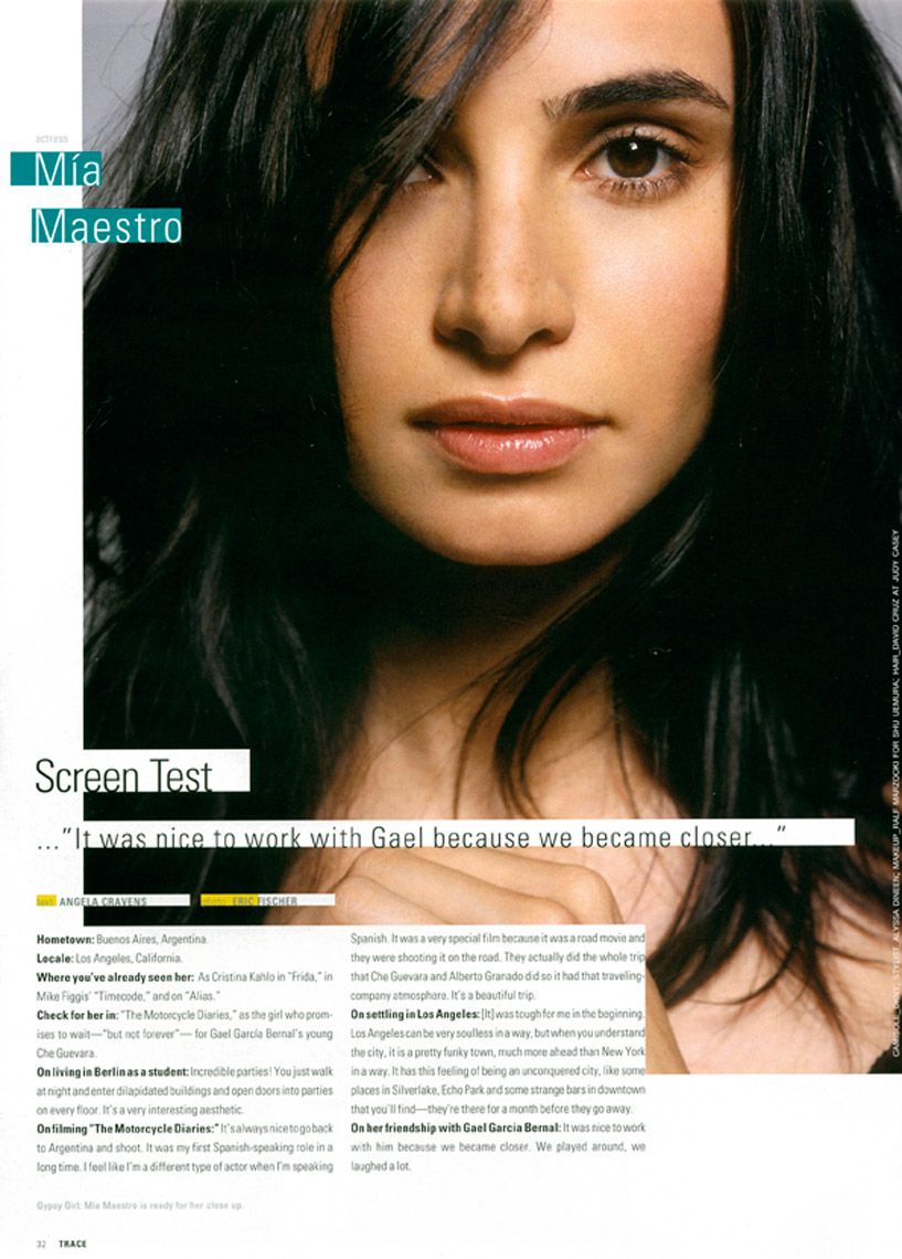 Mia Maestro for Trace Magazine