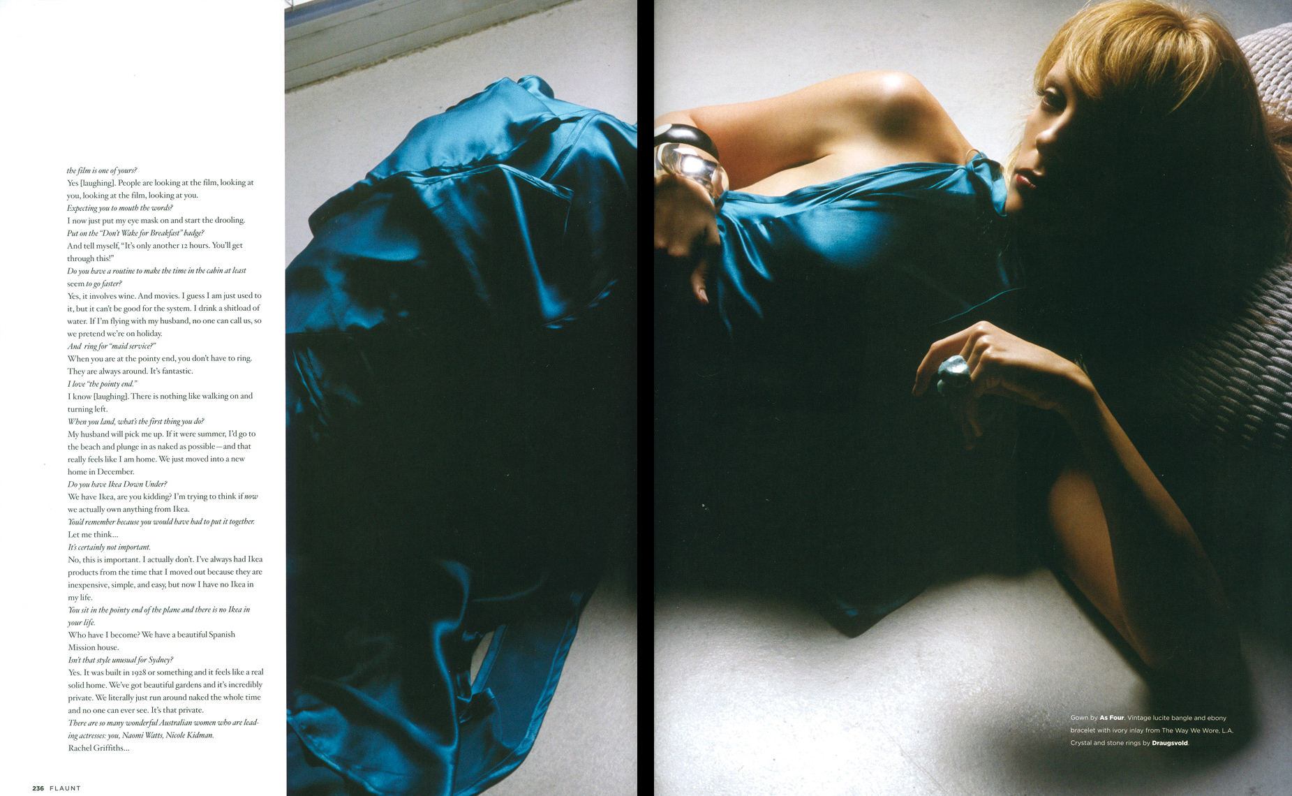 Toni Collette for Flaunt Magazine